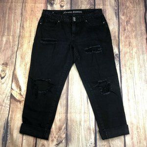 Almost Famous Distressed Jeans Womens Size 9 Black